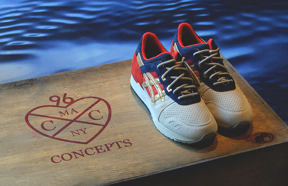 df0f193fe9f3 Concepts x ASICS Gel Lyte III 25th Anniversary. The Boston Tea Party ...